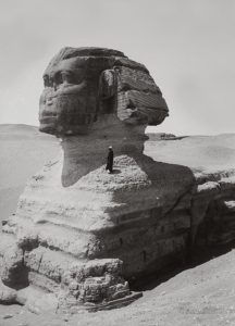 Profile-view-of-Sphinx-Giza-Egypt-1900-1920