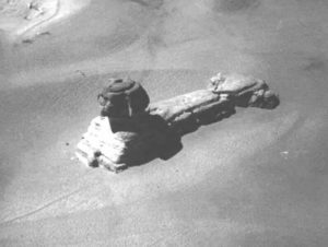 This-is-a-rare-image-of-the-Sphinx-taken-from-a-hot-air-balloon-in-the-early-19th-century-This-is-before-excavation-and-restoration